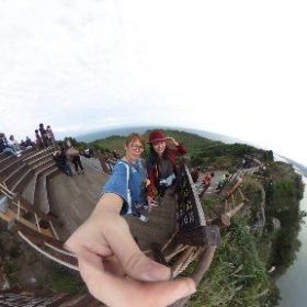 好想再去城山日出峰吹海風,看風景喔!! #theta360
