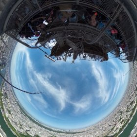 from the top of the Eiffel Tower. #theta360