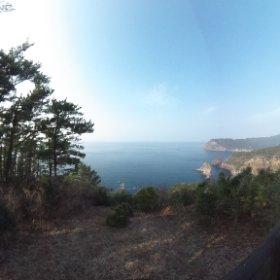 隠岐 ローソク岩展望台 #theta360