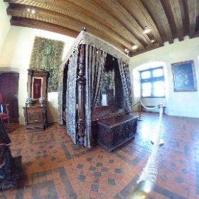 360 château d'Amboise, la chambre du roi #theta360fr