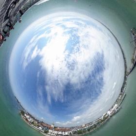 360°-Blick vom Moleturm in Friedrichshafen 😎 #theta360