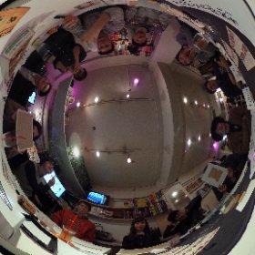 人狼参加してくれた人達で記念撮影!今日は13人です!360°カメラって面白いですね〜!#日曜人狼
