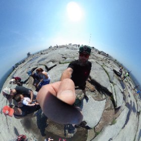 The top of stone mountain