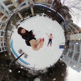 雪遊び☃️❄️ #theta360