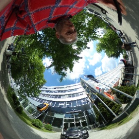 2 Mini Cooper cars, real and fake, hear BMW shop in Kyiv #theta360