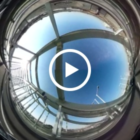 Bridge Over Driving in 360-degrees Views in Tokyo