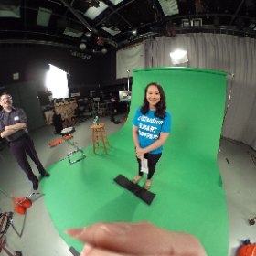 Shooting a small greenscreen project today. Thanks Rinska. #360photo #video  #theta360