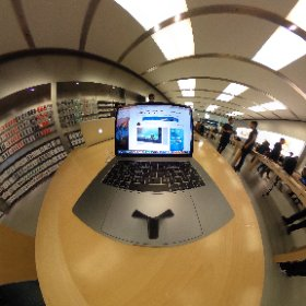 Looking at an advert for the Surface Book in the Apple Store on a Mac Book 😜 #theta360 #theta360uk