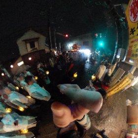 お祭り行って来ました。全天球難しい。 #佐倉 #theta360