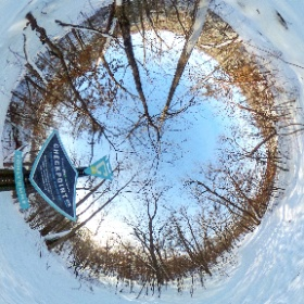 #CheckpointMN location at Alexander Ramsey swinging bridge in Redwood Falls MN.  14 below zero day, but who's counting... #theta360