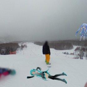 今シーズン初雪山行ってきた #miku360 #theta360
