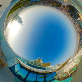Here's a 360° shot from our balcony at @jumeirahbh. Click it and take a look around. #sunset #mydubai #theta360 #theta360uk