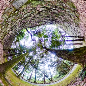 唐沢山の高石垣。豊臣方の技術で築かれた歴史的にも貴重なもの。映画「るろうに剣心」のロケでも使われたそうです。 #theta360