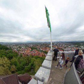 View from #ljubljana castle #Slovenia #theta360