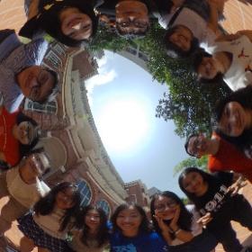 2016 JMSC MJs gather for a 360 photo outside Eliot Hall. #theta360