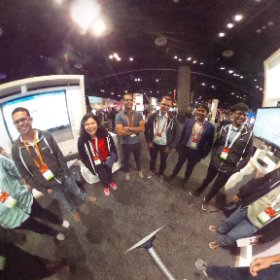 The Visio booth team at MS Ignite 2018 #theta360 #theta360uk