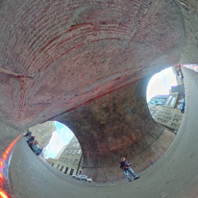 Calton Road LED pavements revisited #theta360