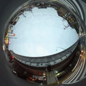 #RICOH #THETA #全天球写真 高架道路との交差点