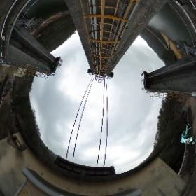 渡ノ瀬ダムの天端でミクシータ。 #miku360 #theta360