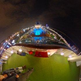Crucero Sovereing en el puerto de Barcelona. #sovereing #pullmantur #barcelona #crucero  #theta360