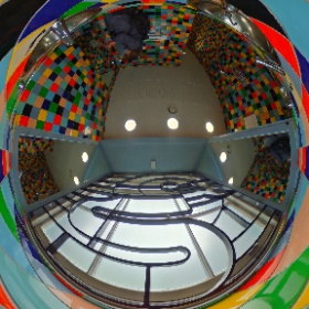 Psychedelic toilet 360º spherical photo (somewhere in Edinburgh) #theta360