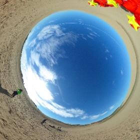 砂丘で五輝星自撮り! #theta360