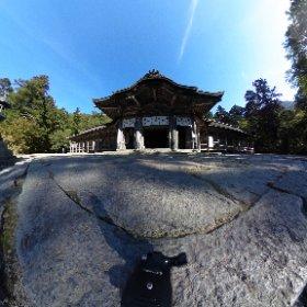 大山寺から更に奥に歩みを進めると、大神山神社奥宮があります。 奇跡的に誰もいない瞬間が訪れたので、360°カメラで(*^^*) #theta360