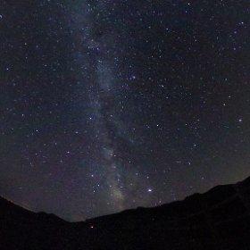 知床峠にて、星空360°全天写真 #知床峠 #theta360
