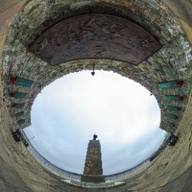 A view from inside the war memorial at Stanley, Falkland Islands. #theta360