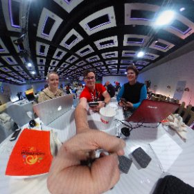 Our organisers Amanda & Erika -  cool, calm, collected #miskHackathon @misktech  #theta360