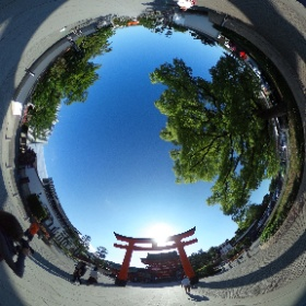 #sakura3d  伏見稻禾大社 #theta360