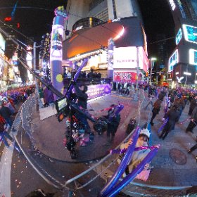 2016 New Year's Eve in Times Square #theta360