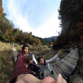 芦津渓谷 みたき園の天空の滝 #theta360