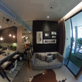 The Esse Asoke 1 Bedroom 46.5sq.m (Living Room 360° View)