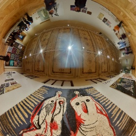 Museum of Decorative Arts Prague, Czech Republic, Exhibition The Mad Silkman, Zika and Lida Ascher: Textiles and Fashion, Henry Moor, February 2019, Photo: PetrSalek.com   ARTmagazin.eu #theta360