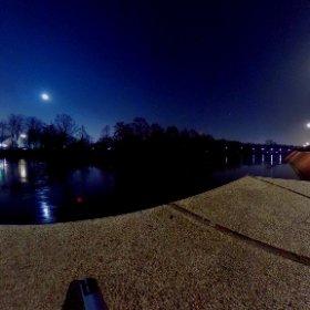 Diesmal eine Mondaufnahme mit mehr Umgebung (und mir😉) #theta360 #theta360de