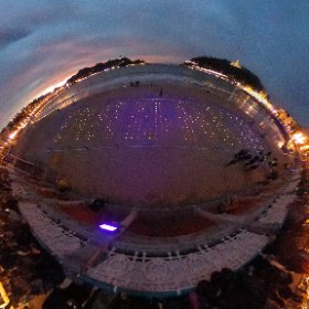 Not sure what was going on on the beach in San Sebastian  tonight but I thought it made for a pretty cool picture  #theta360