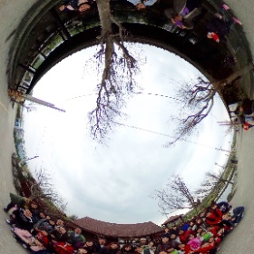 探索幼兒園 大班畢旅 櫻花家 團照 #theta360