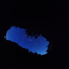国際宇宙ステーション(ISS)が写りました。 #theta360