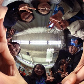 Chinese Delegation from Jinan getting comfortable with immersive media @calnewmedia #theta360