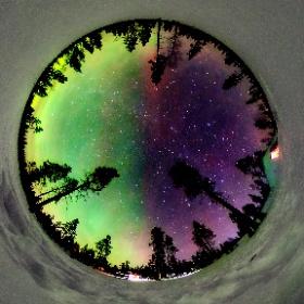 Northen Lights in Lapland #theta360