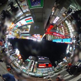新宿 歌舞伎町前(夜) #theta360