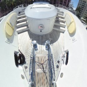 360 view 87' Oceanfast Anchor System lovethatyacht.com #theta360