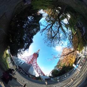 In front of Tokyo Tower, Dec. 2, 2017.