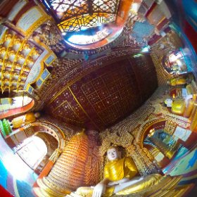 Myanmar, Sagaing, Thanboddhay Pagoda,Theta M15 #travelphotography http://bit.ly/1Itsuq6   #theta360