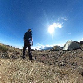Day 2 on #Kilimanjaro at Shira Cave Camp in #theta360
