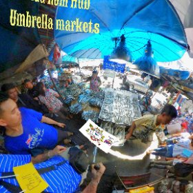 at Maeklong train markets or umbrella markets Talad rom hub, all activities at https://goo.gl/qveMHV Hashtags: #MaeklongRailwayMarkets   #FleaMarkets  #SamutSongkhram  #TravelLocalThai #butterfly3d