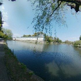彦根城外堀から #theta360