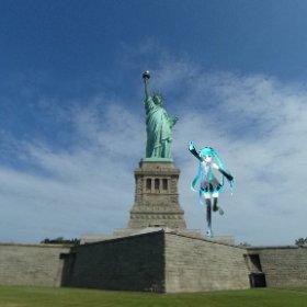自由の女神🗽を間近から #miku360  #theta360