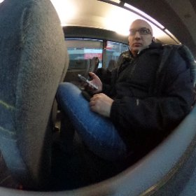 Traveling to #FHHagenberg - Enroute through Linz #theta360